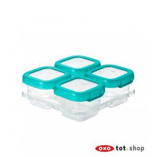 OXO-Babyvoeding-Bewaarbakjes-Groen-4-x-120-milliliter
