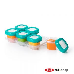 OXO Babyvoeding Bewaarbakjes Groen 6x60 milliliter