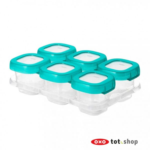 OXO-Babyvoeding-Bewaarbakjes-Groen-6-x-60-milliliter