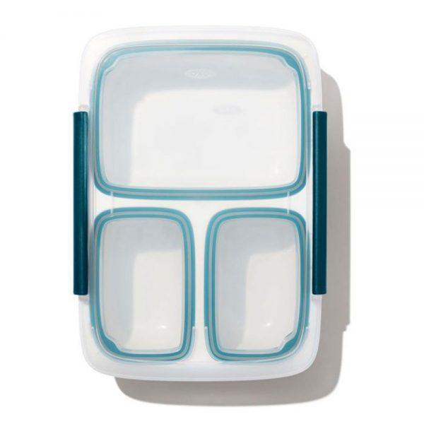 OXO Lekvrije Lunchbox met 3 vakken