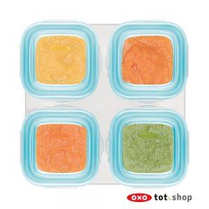 OXO-bewaarbakjes-glas-4x120-blauw