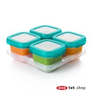 OXO-bewaarbakjes-glas-4x180-groen