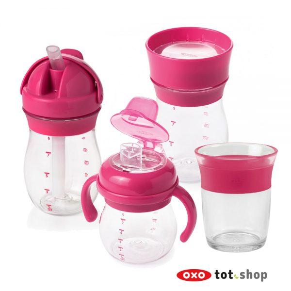 oxo-drinkbekerset-roze-